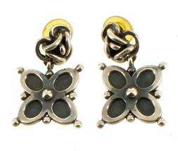 Vintage Sterling Brenda Schoenfeld Castillo Knot Flower Drop Post Earrin... - $163.79