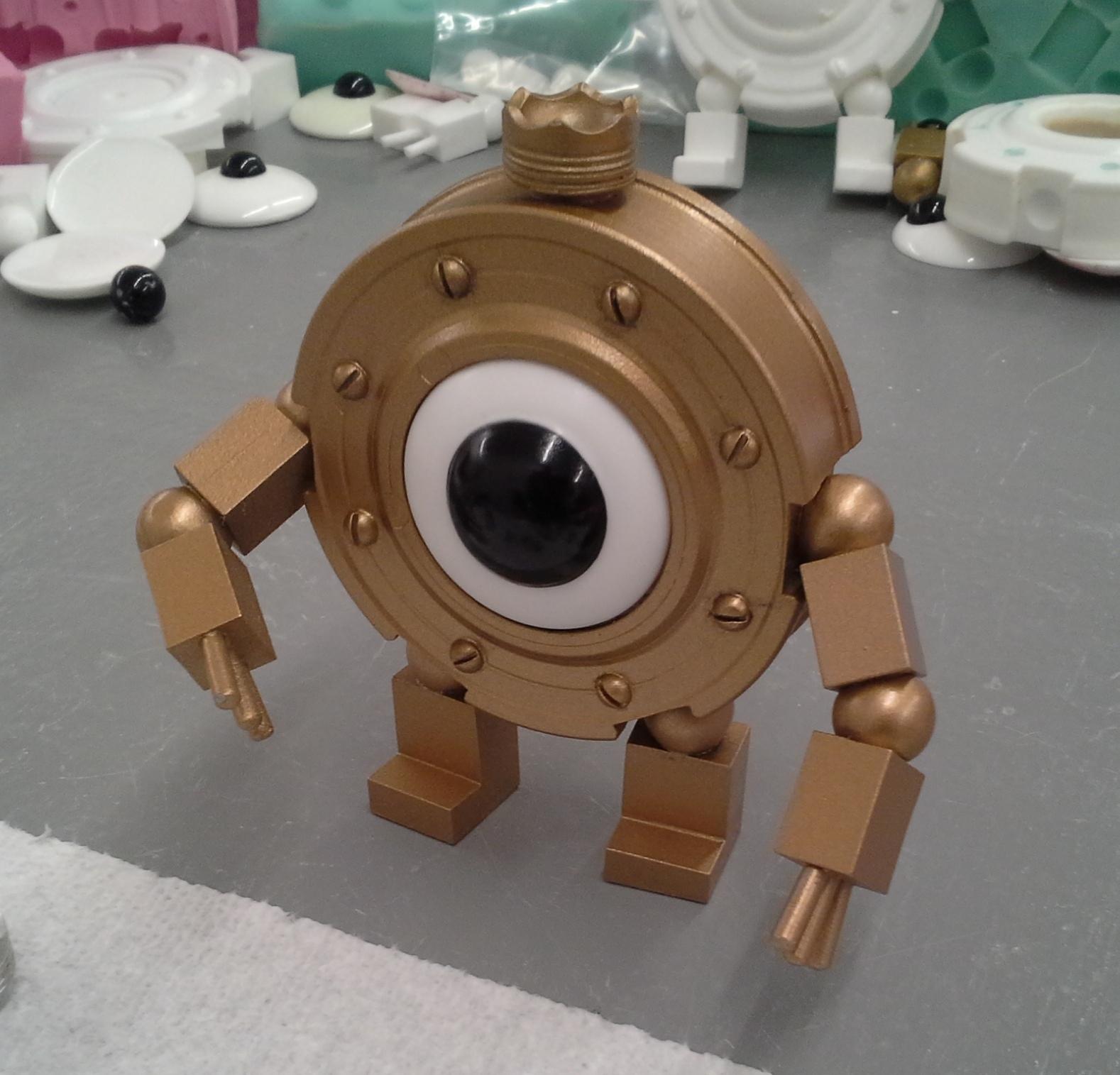 "Licensed Handmade Kit! Girl Genius Little Clank life-size resin figure, 4"" tall!"