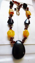 """Multi color Amber faux beaded necklace fashion 21.5"""" long - $25.34"""