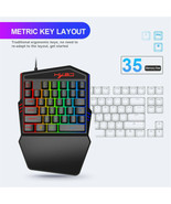 Portable LED One Hand Gaming Keyboard * USB Wired Mouse for PCs/ Xbox On... - $44.62
