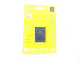 Sony Playstation 2 Memory Card 8MB Black New - $19.79