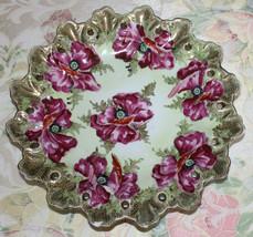 Royal Kinran Nippon Gold Red Floral Wide Bowl Decorated Vintage Plate Platter - $129.00