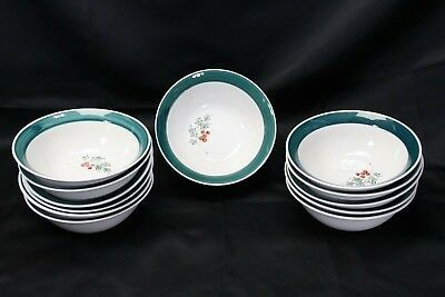 "Primary image for Home Holly Xmas Soup Cereal Bowls 7"" Lot of 12"