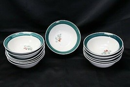 "Home Holly Xmas Soup Cereal Bowls 7"" Lot of 12 - $51.93"