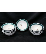 """Home Holly Xmas Soup Cereal Bowls 7"""" Lot of 12 - $61.73"""