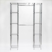 HDX Closet System 14 in. D x 56 in. W x 83 in. H 8-Shelf Expandable Stee... - $185.42