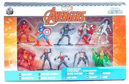 Marvel Avengers 10pc Exclusive Action Figures Collectors Set Nano Metalf... - $63.57