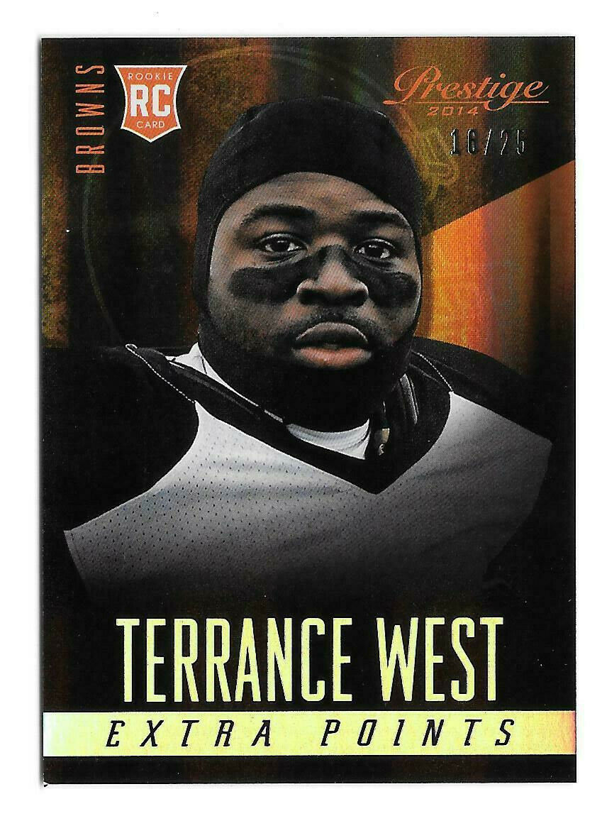 2014 Terrance West Panini Prestige Extra Points Silver 16/25 - Cleveland Browns - $1.89