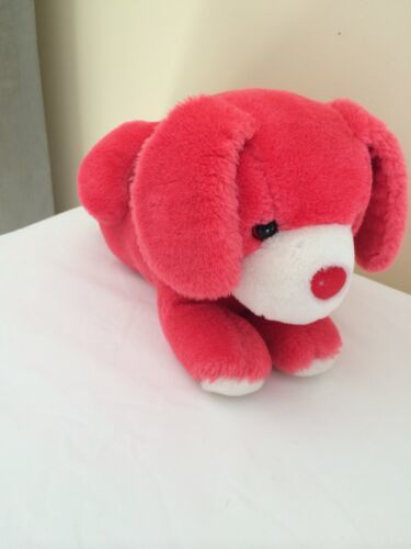 Primary image for Vintage Applause Alphabet Dog Red Puppy Dog Stuffed Animal 1987 13""