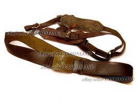 Soviet Army Uniform Belt with Buckle Suspenders Webbing - $24.59