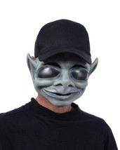 Alien Mask Gray Orion Space Creature Area 51 Black Hat Scary Ugly Creepy... - $54.99
