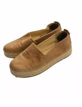 Sam Edelman Suede Espadrilles Women 8 Flats Shoes Tab Camel - $24.74