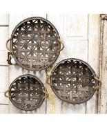3/Set, Natural Round Tobacco Baskets w/Jute Handles - $59.00