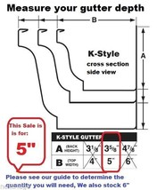 "5"" inch K Style Gutter Hanger Bracket with pre inserted self drilling screw/clip - $4.94+"