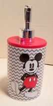Disney Lotion Pump Gray and White Chevron Pattern with Mickey on Front R... - $9.46