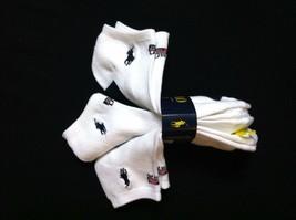 Polo Ralph Lauren Niño Pack de 3 Blanco Plyster Mezcla Deportivo Calcetines - $16.74
