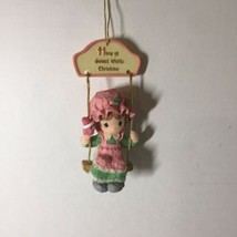 Girl on Swing Christmas Ornament Precious Moments Enesco 1999 - $9.74