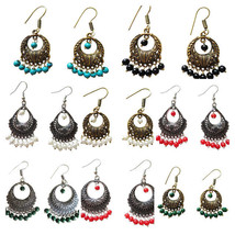 Ethnic Earrings Bollywood Fashion Jewelry Oxidized Pearl Indian Women's ... - $6.92+
