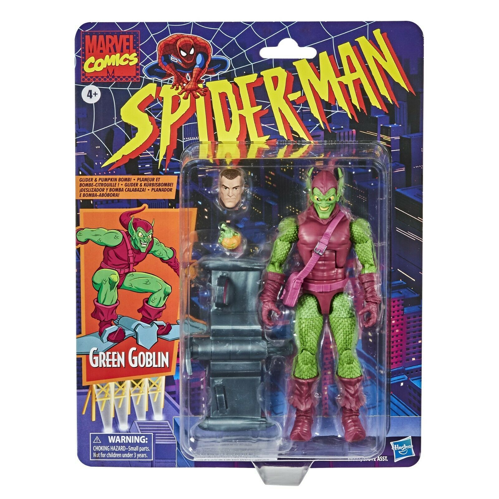 Primary image for NEW SEALED 2020 Marvel Legends Retro Spiderman Green Goblin Action Figure