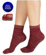 Inc International Concepts Cozy Ribbed Shimmer Fashion Socks Wine - NWT - $5.82
