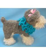 Pet Ruffle Collar Dog Cat Fashion Aqua/BlueTiny Handmade Crochet by Bren - $12.00