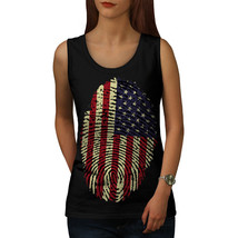 American Fingerprint Tee USA Flag Women Tank Top - $12.99