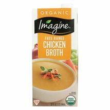 Imagine Foods Chicken Broth - Free Range - Case Of 12 - 32 Fl Oz. - 4489... - $69.97