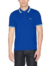 Hugo Boss Men's Cotton Green Tag Sport Paddy Polo T-Shirt 50302557 Blue Size S