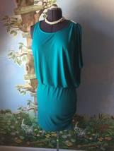 Michael Kors Womens Tile Blue Rushed Blouson Dress Size L NWT $120 - $49.49