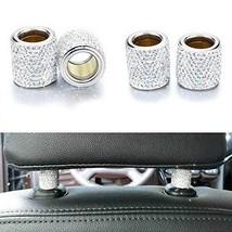 XianghuangTechnology 4 Pack Car Headrest Collars, Bling Diamond Crystal Car Seat