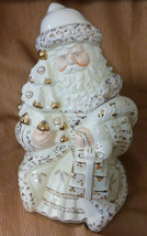 Ivory & Pearl Collection-Santa Claus Christmas Cookie Jar-Baum Bros Form... - $24.74