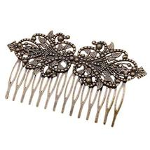2 Pcs Retro Metal 14 Teeth Side Comb Flower Vine Cirrus Hairpin Decorative Comb,