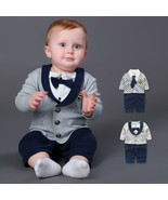 Baby Rompers 100% Cotton Bow Tie Gentleman Suit Boys Leisure Clothing Se... - $16.10