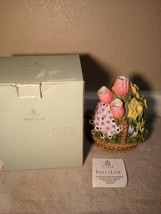 Partylite Floral Bouquet Tealight HOLDER---FREE SHIP--NEW - $24.48