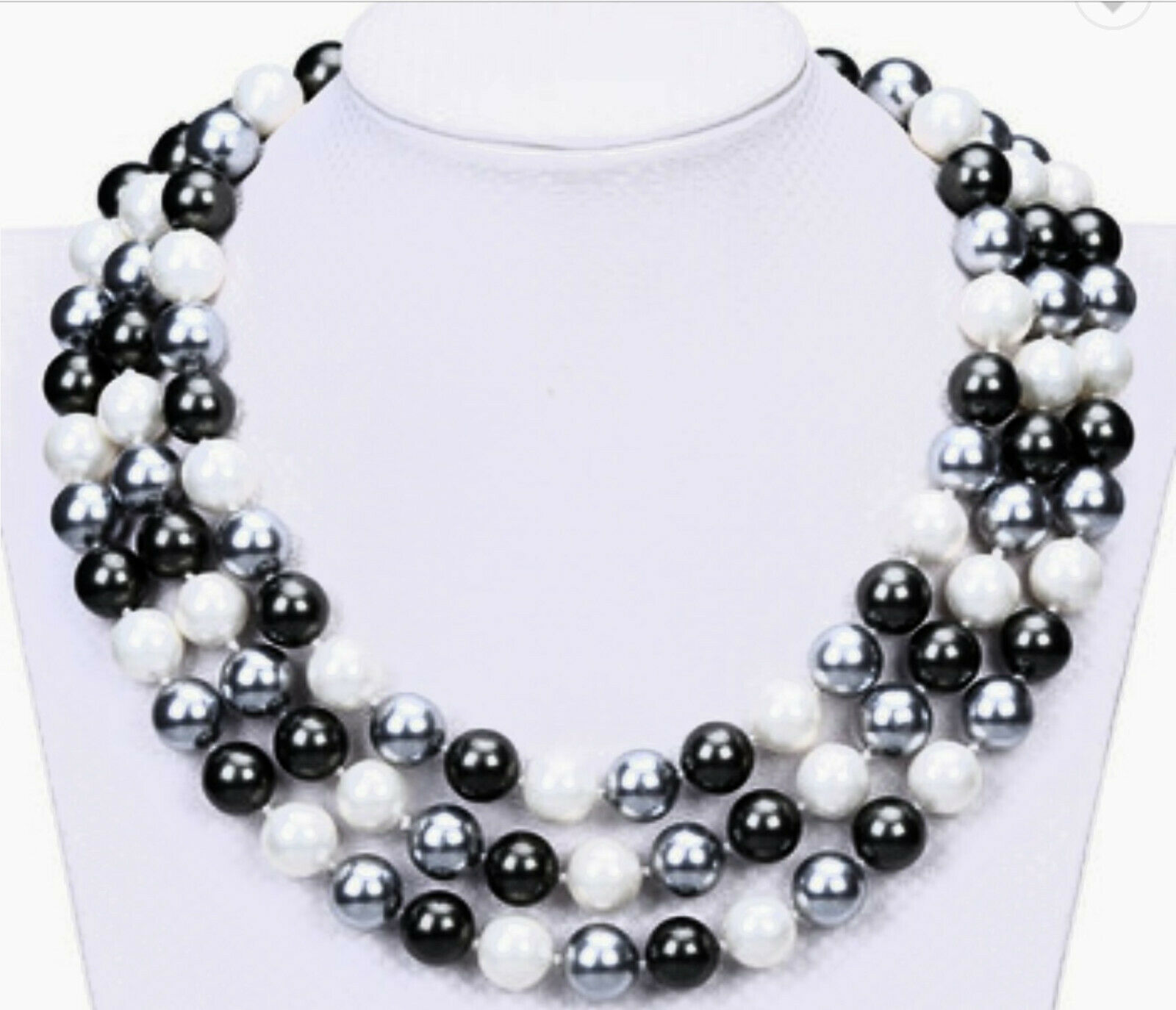 GENUINE HIGH END STATEMENT COSTUME SEA SHELL NECKLACE JEWELRY NEW