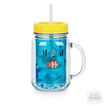 Disney Parks Finding Dory Nemo Jelly Jar with Straw Small Plastic Cup w/ Lid - $16.78