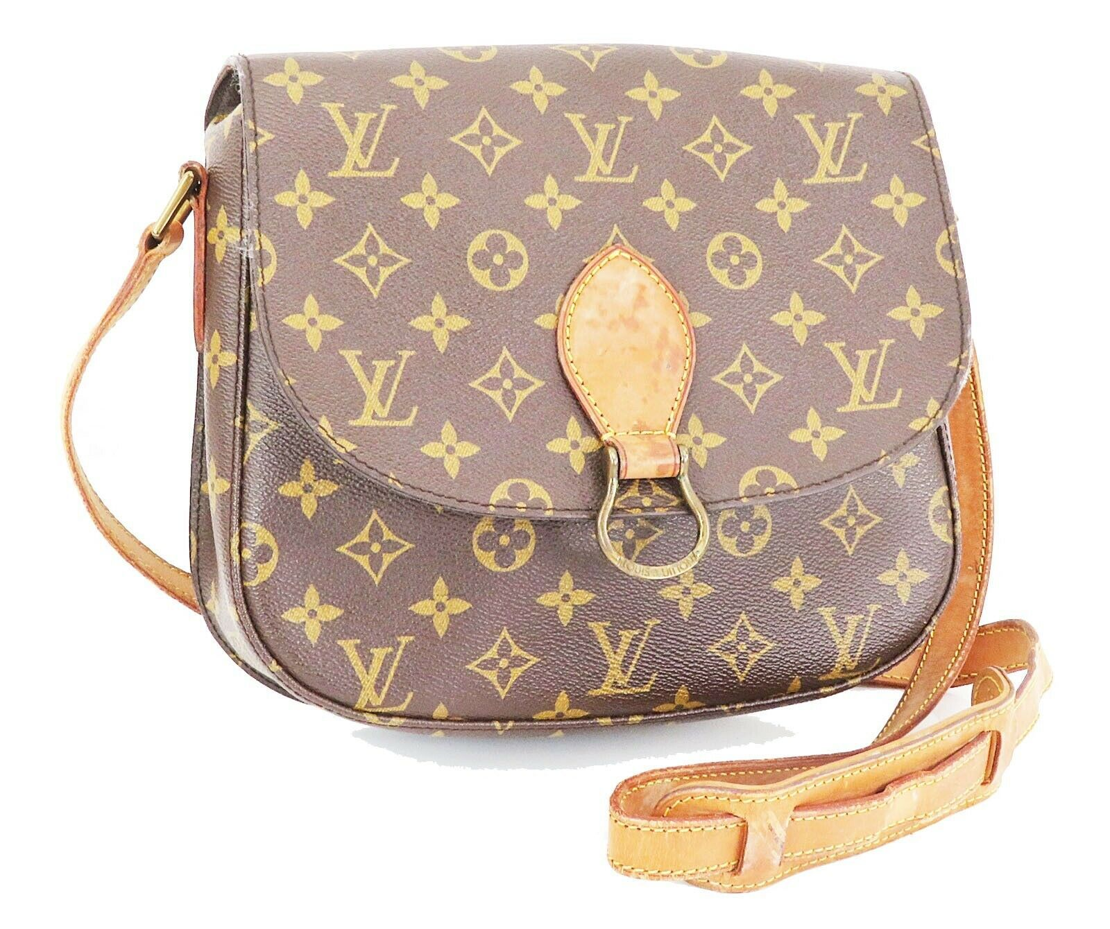 Authentic LOUIS VUITTON Saint Cloud GM Monogram Shoulder Bag #32978