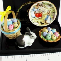 Deluxe Peter Rabbit Easter 1.321/6 Reutter Beatrice Potter DOLLHOUSE Miniature - $28.93