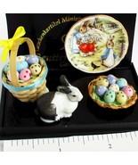 Deluxe Peter Rabbit Easter 1.321/6 Reutter Beatrice Potter DOLLHOUSE Min... - $28.93