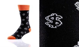 Yo Sox Mens Crew Sock - Dollar Sign -Fits Size 7 - 12 - Blend of Cotton & Nylon