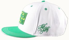 Flat Fitty Hashtag Fresh Wiz Khalifa Green White Snapback Baseball Hat Cap NWT image 4