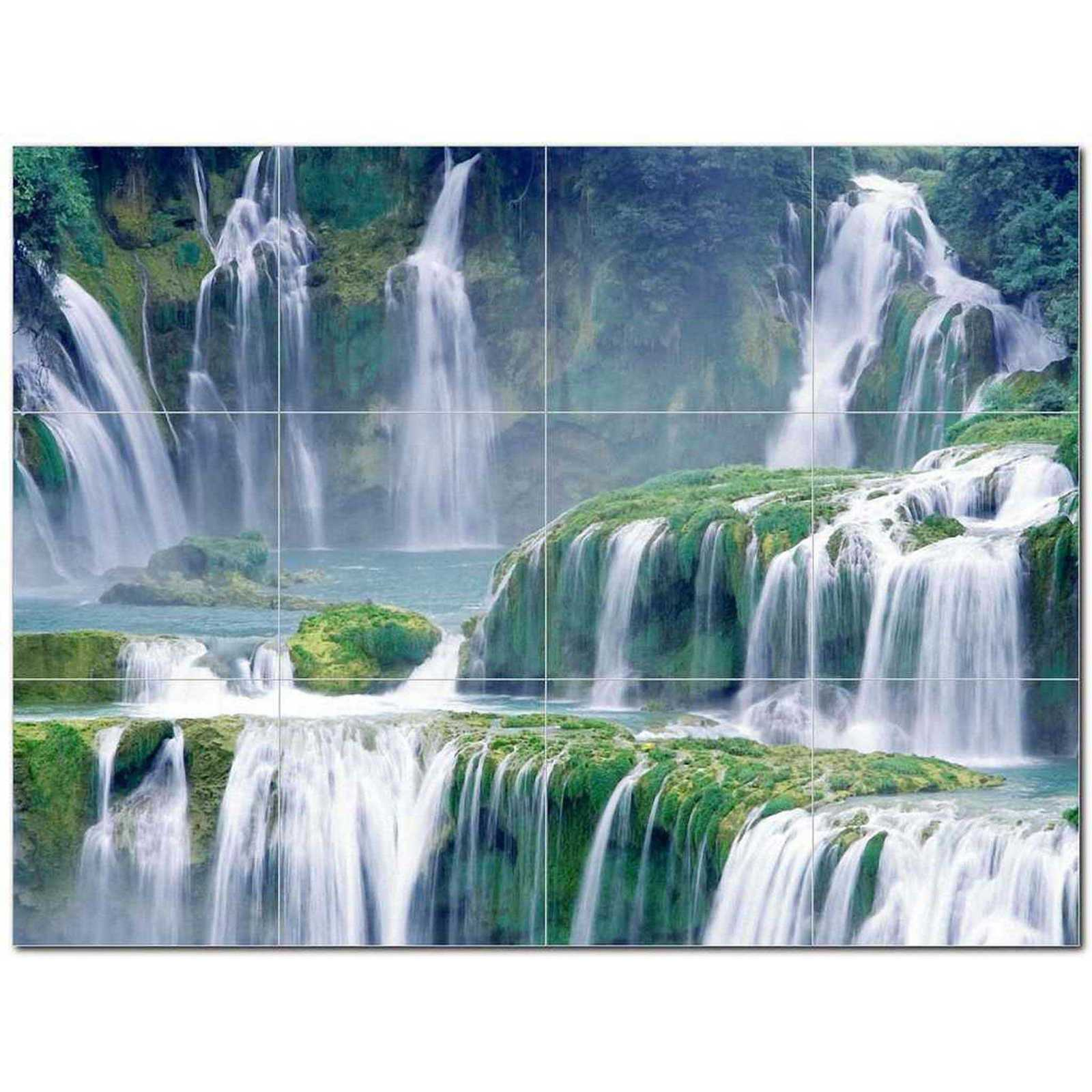 Primary image for Waterfall Photo Ceramic Tile Mural Kitchen Backsplash Bathroom Shower BAZ406091