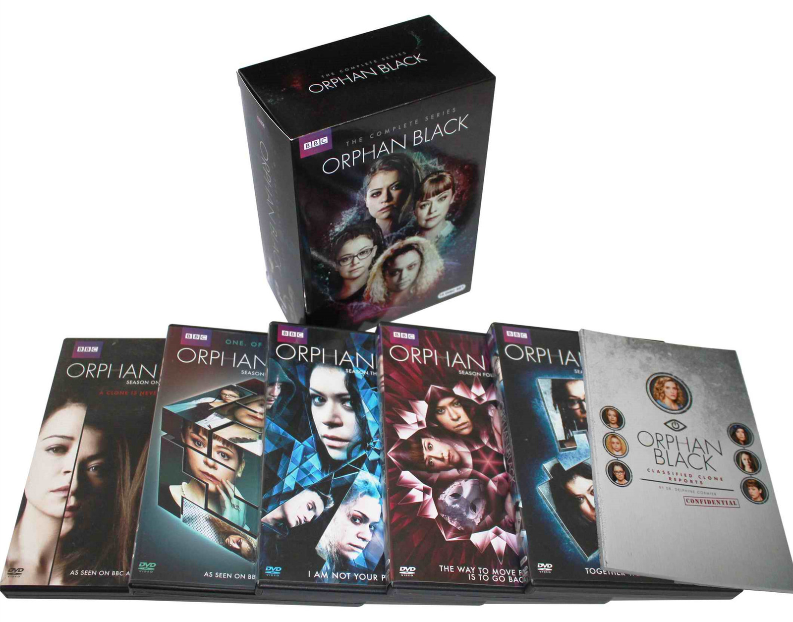 Orphan Black The Complete Seasons 1-5 1,2,3,4,5 DVD Set 15 Disc Free Shipping