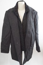 VINCE CAMUTO | Car Coat with Removable Bib men's jacket sz L $198+ - gray -wear - $98.99