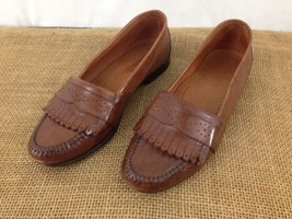 Alfani Handcrafted in Italy Mens 8 D Brown Leather Keltie Dress Loafer S... - $38.61