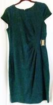 Spense Dress 8 Green Knee length Capped Sleeves - $15.81