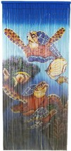 Natural Bamboo Beaded Curtain Tri Turtles Beads Window Doors Room Divide... - $59.39
