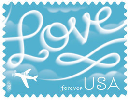 USPS Forever Love Skywriting Stamps - $47.00