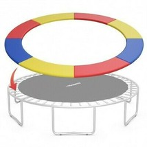 10FT Waterproof Safety Trampoline  Bounce Frame Spring Cover-Multicolor ... - $103.38