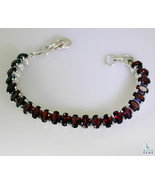 jaipur 925 Solid Sterling Silver gorgeous genuine Red Bracelet gift UK - $36.35